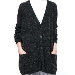 COS Wool Boxy Boyfriend Cardigan Sweater Speckle